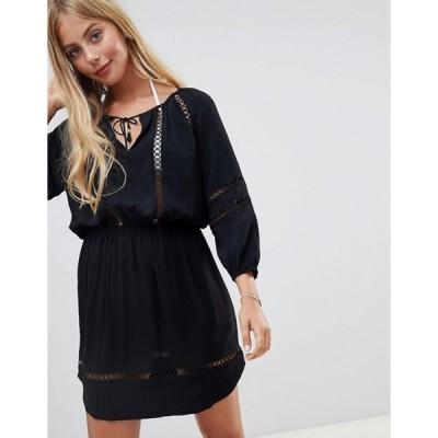 シーフォリー レディース ワンピース トップス Seafolly lace insert beach dress