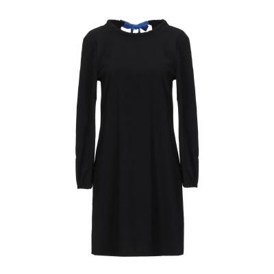 メルシー ..,MERCI ミニワンピース&ドレス ブラック 46 ポリエステル 100% ミニワンピース&ドレス
