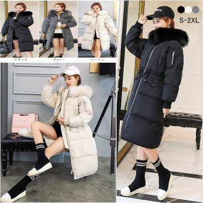 ダウンジャケット レディース ダウンコート 中綿コートフード付き ファー 着痩せ 大きいサイズ 厚手 防寒 防風 スリム