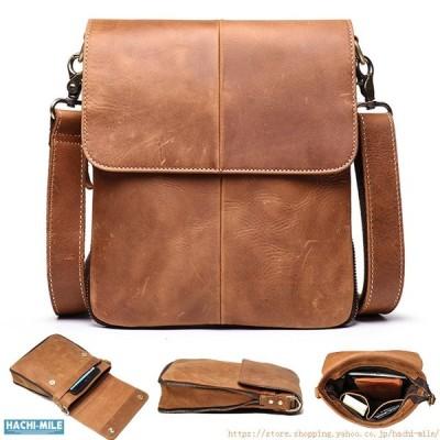 レザーバッグ メンズ 牛革 斜め掛けバッグ ビジネスバッグ シンプル 無地バッグ カバン ショルダーバッグ 新作