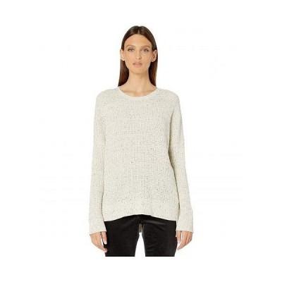 Eileen Fisher アイリーンフィッシャー レディース 女性用 ファッション セーター Organic Cotton Speckle Crew Neck Box-Top - Ecru