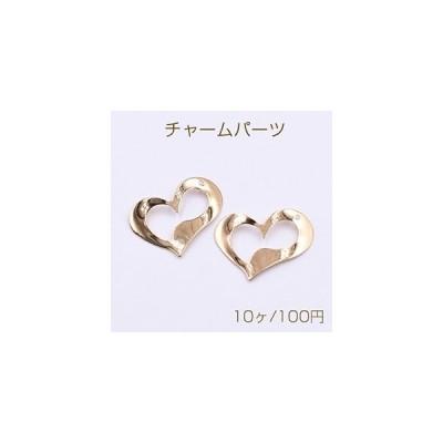 チャームパーツ ハート 1穴  29×23mm ゴールド【10ヶ】