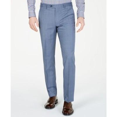 マイケルコース メンズ カジュアルパンツ ボトムス Men's Classic-Fit Airsoft Stretch Light Blue Windowpane Suit Pants Light Blue