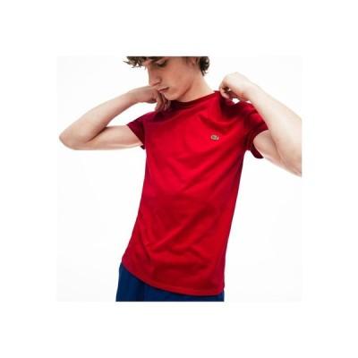 LACOSTE レギュラーフィット ピマコットンクルーネックTシャツ