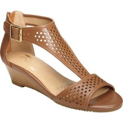 エアロソールズ レディース サンダル シューズ Sapphire Sandal Dark Tan Leather