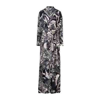 ジャストカヴァリ JUST CAVALLI ロングワンピース&ドレス ブラック 38 レーヨン 100% ロングワンピース&ドレス