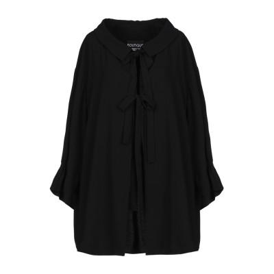 BOUTIQUE MOSCHINO シャツ ブラック 46 トリアセテート 80% / ポリエステル 20% シャツ