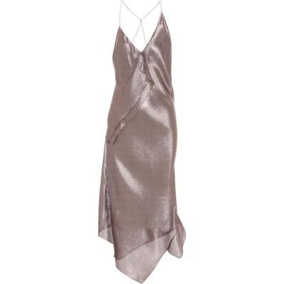 ローラン ムレ Roland Mouret レディース パーティードレス ワンピース・ドレス Jimboy Silk-Blend Asymmetric Dress Rose Gold Metallic