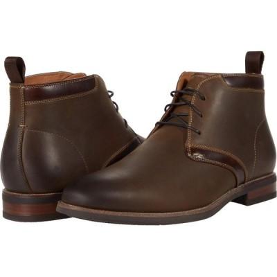フローシャイム Florsheim メンズ ブーツ チャッカブーツ シューズ・靴 Uptown Plain Toe Chukka Boot Brown Crazy Horse Pull Up