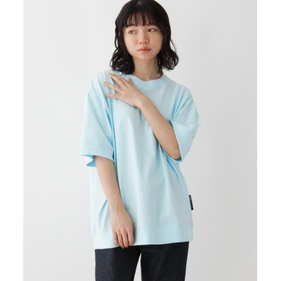 BASE CONTROL LADYS(ベース コントロール レディース) 抗菌防臭 ビッグシルエット リブ仕様 ロゴワンポイント刺繍Tシャツ