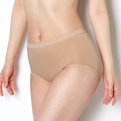 【10%OFFクーポン対象】 綿混素材でやさしい肌当たり ディアヒップショーツ はきこみ丈ふかめ(ワコール/Wacoal)