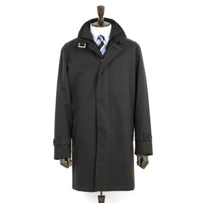 暖かレイヤードカラーコート ストレッチ ベーシック LES MUES