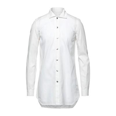 ダークシャドウ バイ リック オウエンス DRKSHDW by RICK OWENS シャツ ホワイト S コットン 100% シャツ