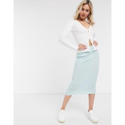 エイソス レディース スカート ボトムス ASOS DESIGN knitted midi skirt in mint - part of a set