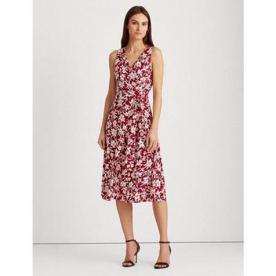 ラルフローレン ワンピース トップス レディース Floral Tie-Waist Jersey Dress Garnet/Cream