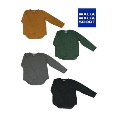WALLA WALLA SPORT ワラワラスポーツ別注 スウェットルーズベースボールTシャツ 日本製 アメリカ製生地