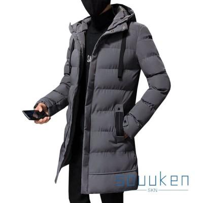 ダウンコート 中綿ジャケット メンズ 厚手 防風 防寒 暖かい ロング丈 フード付き ダウンジャケット 冬服 大きいサイズ ゆったり 通勤