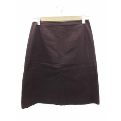 【中古】ポールカ PAULE KA スカート 台形 ひざ丈 40 紫 パープル /FF37 レディース