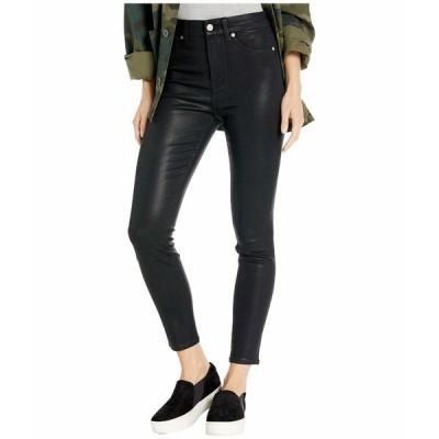 7フォーオールマンカインド デニムパンツ ボトムス レディース High-Waist Ankle Skinny Faux Pocket in Black Coated Black Coated