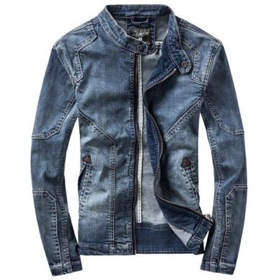 店長おすすめ Gジャン メンズ デニムジャケット ジージャン ジャケット 大きいサイズ 加工デニム バイク スリム ブルゾン ヴィンテージ デニム