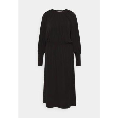 インウェア レディース ファッション HOLDENIW DRESS - Jersey dress - black