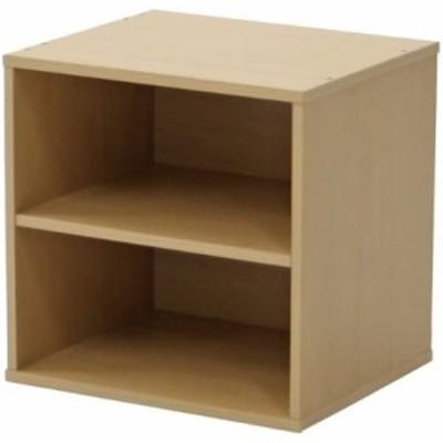 不二貿易 カラーボックス 収納ラック キューブボックス 幅34.5cm ナチュラル 組み合わせ自由 81902