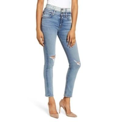 ハドソンジーンズ レディース デニムパンツ ボトムス Holly Double Waistband Ankle Skinny Jeans PROVOKING