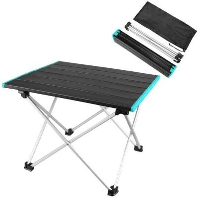 MAGARROW アウトドアテーブル キャンプ テーブル 折りたたみテーブル 軽量 収納 (ブラックx 青)