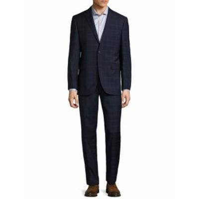 サックスフィフスアベニュー Men Clothing Windowpane Notch Suit