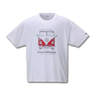大きいサイズ メンズ VOLKSWAGEN半袖Tシャツ キングサイズ 大きいサイズ メンズ 3L 4L 5L 6L
