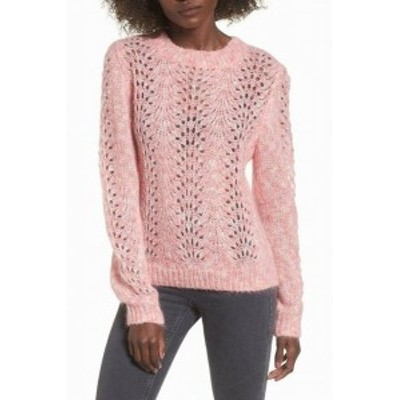 Topshop トップショップ ファッション トップス TopShop NEW Pink Womens Size US 4 UK 8 Open Knitted Pullover Sweater