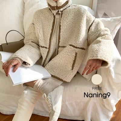 NANING9(ナンニング)ボアフライトジャケットボアジャケット フライトジャケット ボア ジャンパー 冬 アウター カジュアル