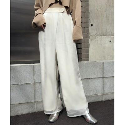 HER CLOSET / 【&g'aime】シアーレイヤードパンツ WOMEN パンツ > スラックス