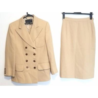 グッチ GUCCI スカートスーツ サイズ40 M レディース ベージュ 肩パッド【中古】20200720