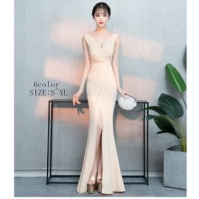 マーメイドドレス ウエディングドレス 結婚式 発表会 披露宴 花嫁 キャバドレス ロングドレス スリットワンピ 大きいサイズ 2020新作 顔
