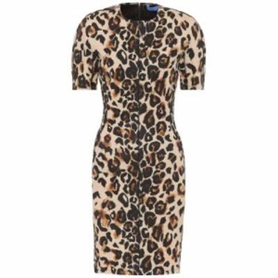 ミュグレー Mugler レディース ワンピース ワンピース・ドレス Leopard-print jersey dress Natural Leopard