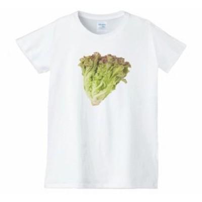サニーレタス レディース 食べ物 野菜 スイーツ Tシャツ 白