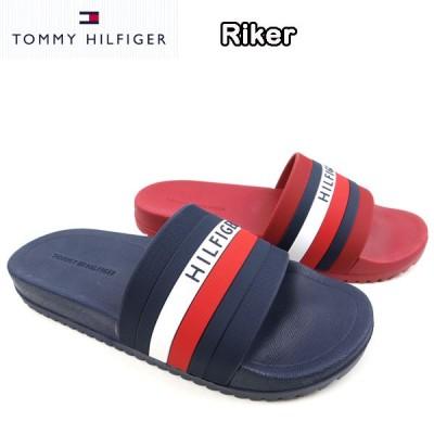 トミーヒルフィガー メンズ サンダル ビーチ シャワー TM RIKER RUBBER SANDAL TOMMY HILFIGER