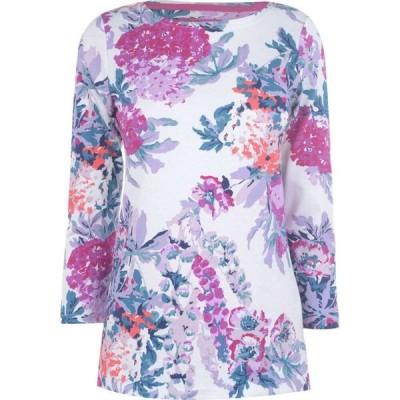 ジュールズ Joules レディース 長袖Tシャツ トップス Long Sleeve Harbour T Shirt CREAMFLORL
