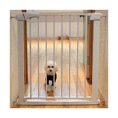 Smart Pet パンチフリー ベビーゲート 階段上 ペットゲート ベビーフェンス ホワイト オートクローズ 取付簡単 180度シャフト