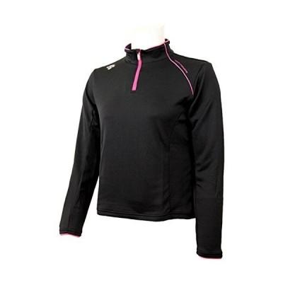 デサントDESCENTE レディース クーリング ハーフ ジップ 長袖 シャツ DAT-5427WL BLK ブラック L