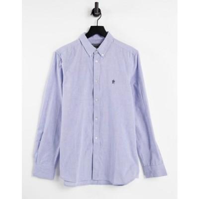 フレンチコネクション メンズ シャツ トップス French Connection long sleeve oxford shirt in sky blue
