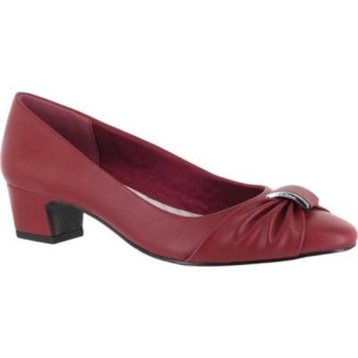 イージーストリート レディース パンプス シューズ・靴 Eloise Pump Red Polyurethane