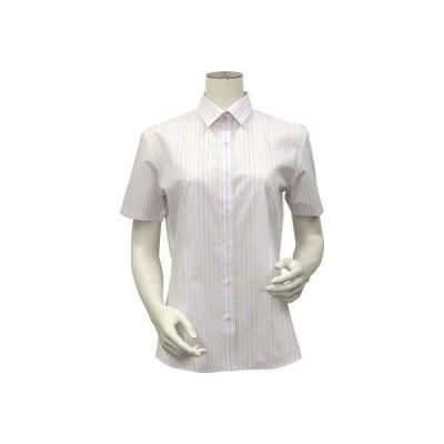 トーキョーシャツ TOKYO SHIRTS 形態安定ノーアイロン レギュラー衿 半袖ビジネスワイシャツ (ライトピンク)