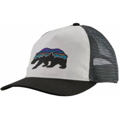 パタゴニア レディース 帽子 アクセサリー Patagonia Women's Fitz Roy Bear Layback Trucker Hat White