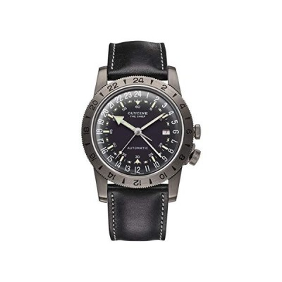 Glycine Airman Mens Analog Swiss Automatic Watch with Leather Bracelet GL0246 並行輸入品