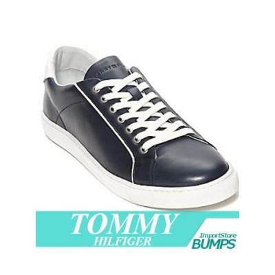 トミーヒルフィガー  レザーコーティング  スニーカー  本革  メンズ  シューズ  ローカット  USA限定  新作  TOMMY
