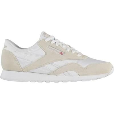 リーボック Reebok Lifestyle メンズ スニーカー シューズ・靴 Classic Nylon Trainers White/Grey