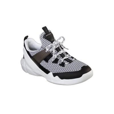 スニーカー スケッチャーズ Skechers Men's D'Lites DLT-A Low Top Sneaker Shoes White Black Active Sports