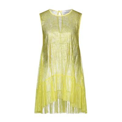 BRAND UNIQUE ミニワンピース&ドレス イエロー 1 ナイロン 100% ミニワンピース&ドレス